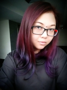 Purple with Violet ombre tips