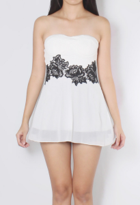 Alana Embroidery Bustier Top: RM24.80