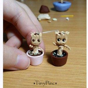 Miniature Baby Groot Figurine: RM56.86