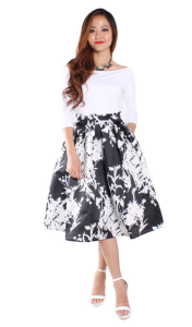 Verda Midi Print Skirt: RM69
