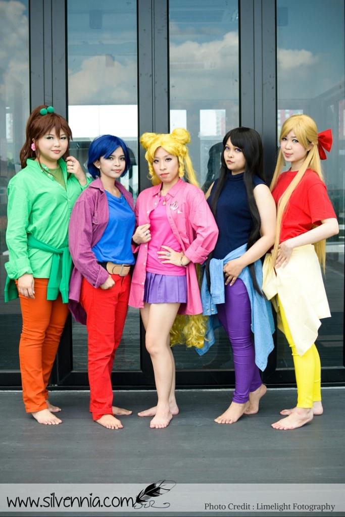 Bishoujo Senshi Sailor Moon - Tsukino Usagi, Makoto Kino, Mizuno Ami, Hino Rei, Aiko Minako