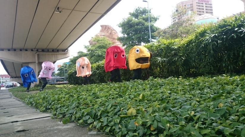 Pac Man Cosplay @ Sunway Pyramid