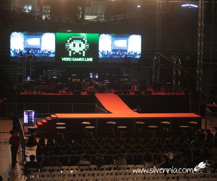 Preparing the concert hall for the big show. Go go go Video Games Live KL!